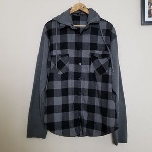 Other - Coofandy Hooded Flannel Button Down Shirt
